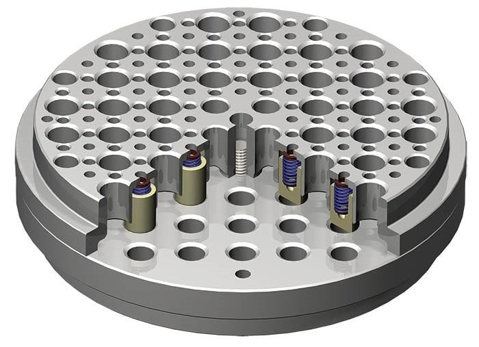 compressor valve plate with thermoplastic seals